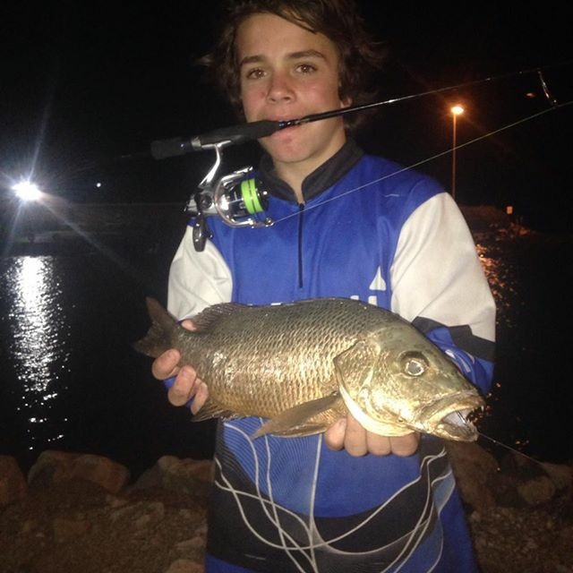 Jack Taylor and his 51cm Mangrove Jack