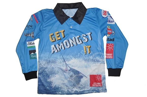 Sailfish kids l s fishing shirt getaway outdoors for Toddler fishing shirts