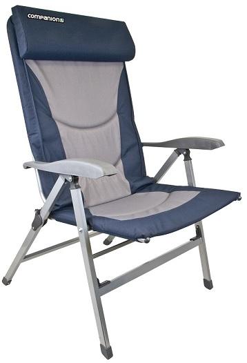 7 Position Padded Jumbo Chair Blue