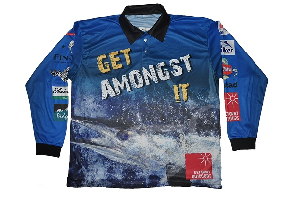 Marlin kids l s fishing shirt getaway outdoors for Toddler fishing shirts